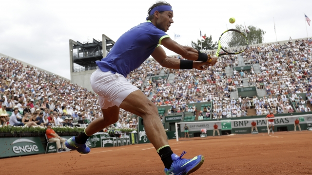 The Latest: Nadal's search for 10th French Open off to a win