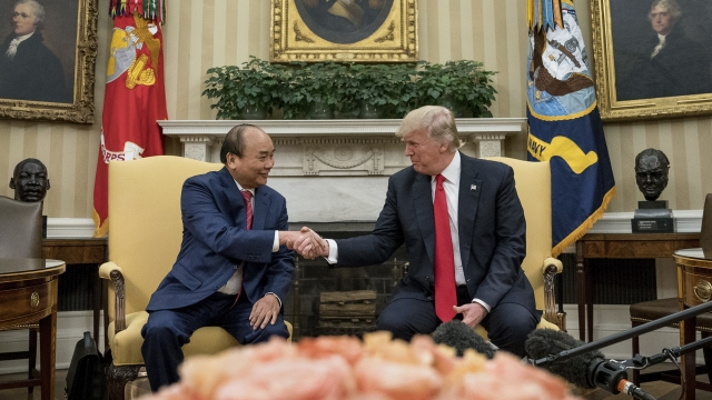 The Latest: Trump welcomes Vietnam leader to White House