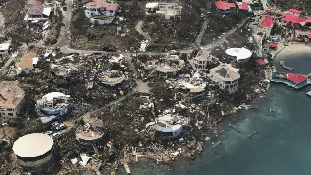 The Latest: Insurer estimates damage costs on French islands