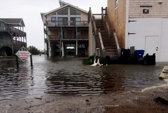 The Latest: Maria floods damaged North Carolina beach towns
