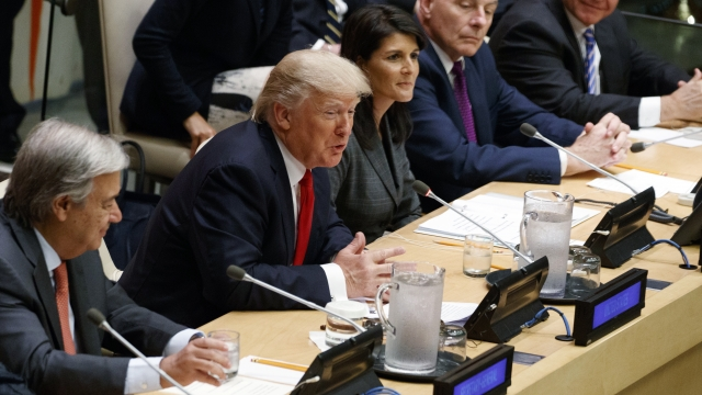 President Trump Prepares To Address UN General Assembly Amid North Korea Controversy