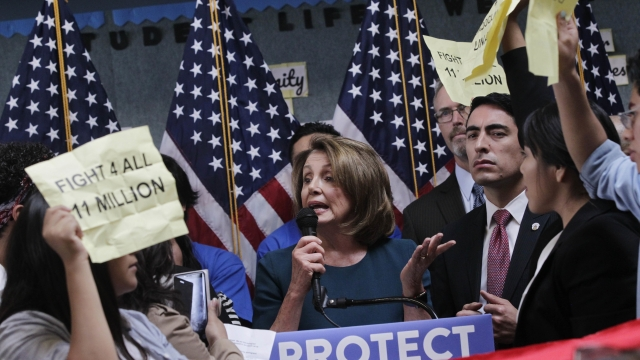 Pelosi Is Confronted By Protestors Angry About Her Immigration Talks With Trump