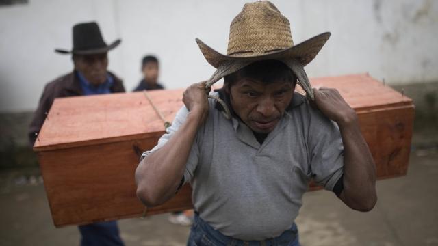 Bodies emerge from Guatemala's war-era 'model villages'