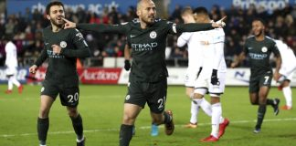 City beats Swansea 4-0 for record 15th straight league win