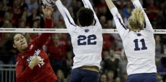 Nebraska rallies past Penn State in NCAA volleyball semis