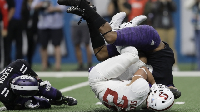 No. 13 TCU and Hill rally to beat No. 15 Stanford 39-37