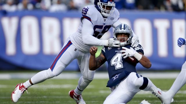 Prescott throws 3 TDs as Cowboys spoil Eli's return