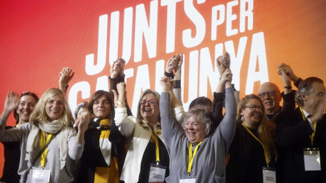 The Latest: Germany views Catalonia still as a Spanish issue