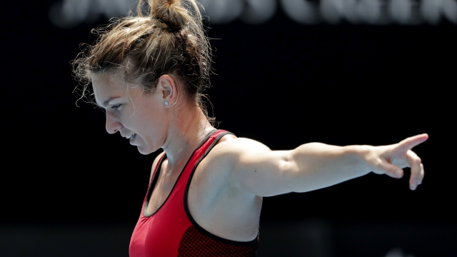 Simona Halep survives epic battle against Lauren Davis in Australian Open clash