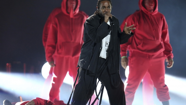 Kendrick Lamar Lights The Stage On Fire With His Grammys Performance