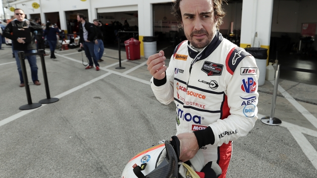 The Latest: Alonso finishes his driving time at Rolex