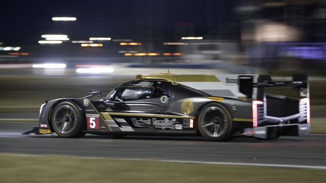 The Latest: Attrition takes toll overnight at Rolex 24