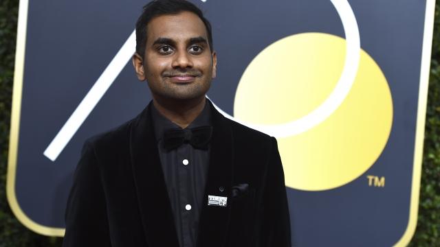 The Latest: Aziz Ansari wins TV comedy actor Globe award