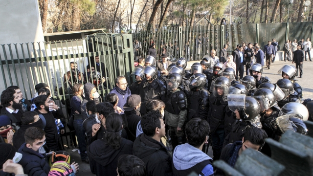 The Latest: France expresses concern over Iran protests