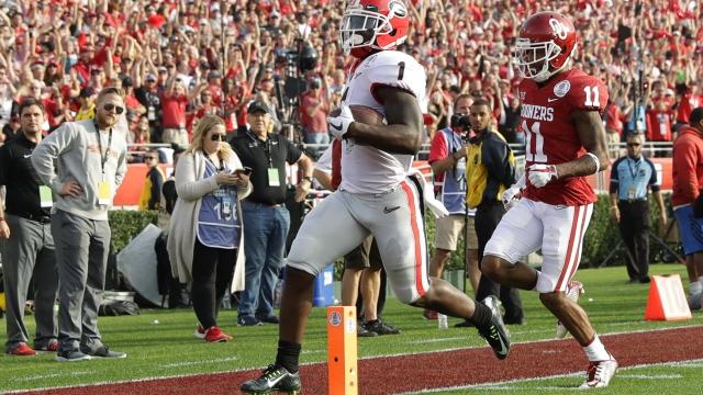 The Latest: Georgia, Oklahoma now tied 31-31 at Rose Bowl