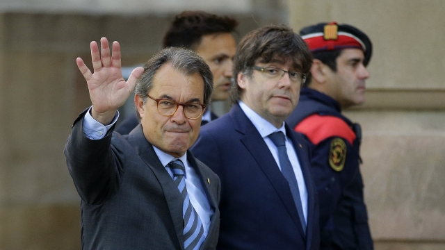 The Latest: Jailed activist: Catalan vote lacked validity
