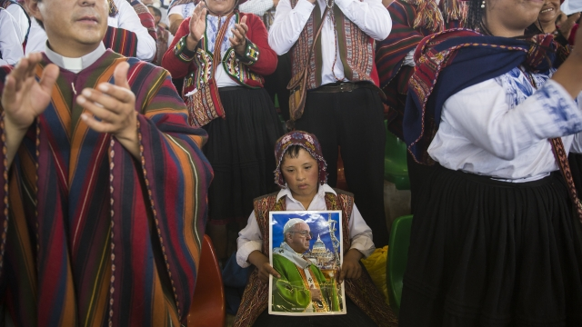 The Latest: Pope urged to help protect Amazon rainforest