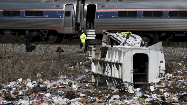 Train carrying GOP lawmakers strikes trash truck; 1 killed