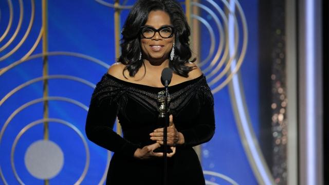Winfrey accepts Cecil B. DeMille Award at Golden Globes