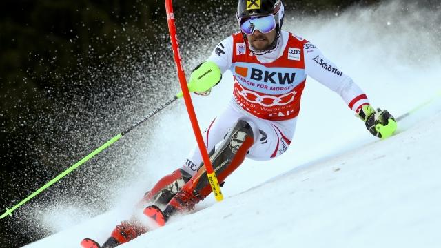 World Cup leader Hirscher fastest in 1st run of slalom