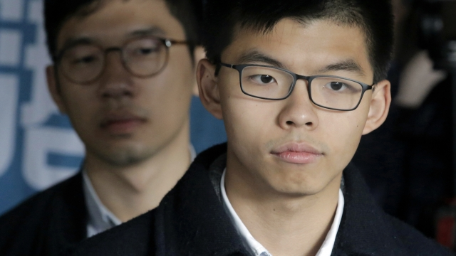 Joshua Wong receives second jail term over 2014 protests