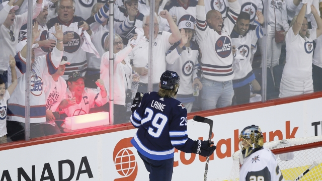 Jets jump on Golden Knights early, open series with 4-2 win