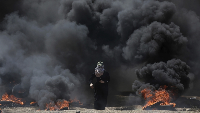 Palestinians to bury their dead Tuesday after 58 killed