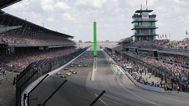 The Latest: Kanaan sets record by leading 14th Indy 500
