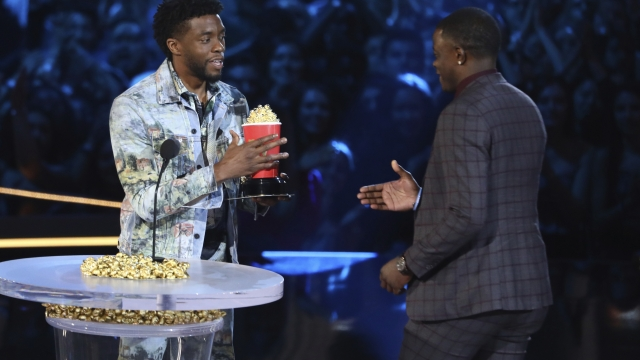 On a big night for 'Panther,' Boseman honors real-life hero