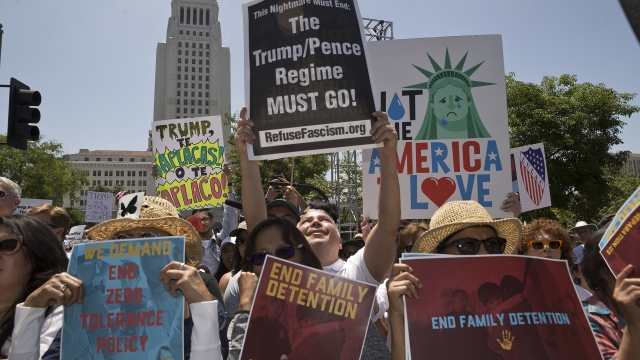 Protesters flood US cities to fight Trump immigration policy