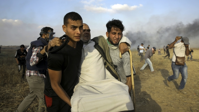 Protests resume after Palestinian paramedic's Gaza funeral