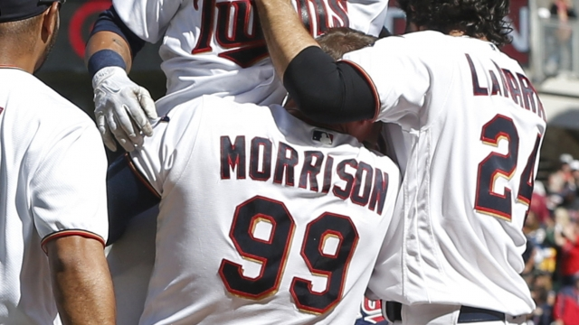 Rosario's 3rd homer of game lifts Twins over Indians 7-5