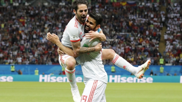 The Latest: Costa's deflected goal puts Spain up 1-0 on Iran