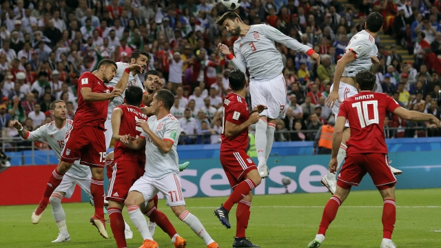The Latest: Iran fending off Spain at halftime in Kazan