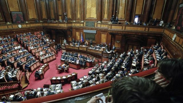 The Latest: Italian opposition asks 'Where's the money?'