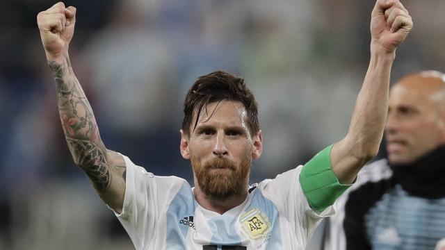 The Latest: Messi, Maradona celebrate as Argentina advances
