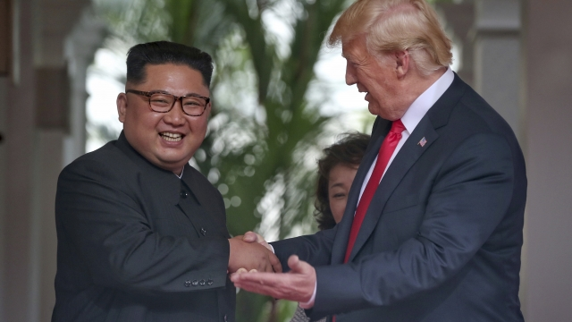 The Latest: Trump thanks Kim for taking 'bold step'