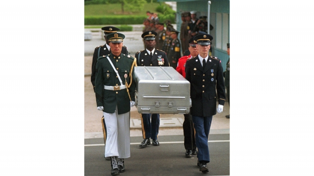 US moves 100 coffins to N. Korean border for war remains