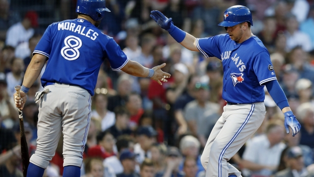 Blue Jays win 13-7, snap Red Sox win streak at 10 games