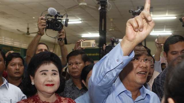 Cambodians vote in election with main opposition silenced