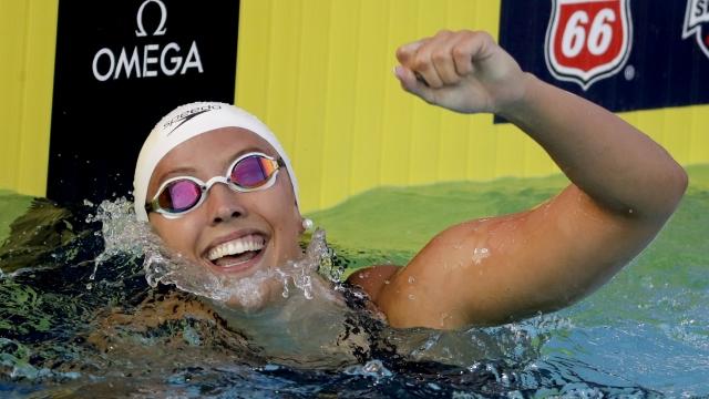 Kathleen Baker sets world record in 100 back at US nationals