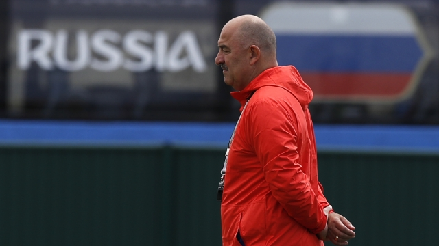 The Latest: 1 change for Russia for World Cup quarterfinals