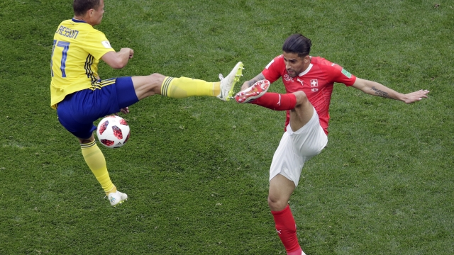 The Latest: Swiss-Swedes tied 0-0 at halftime in Round of 16