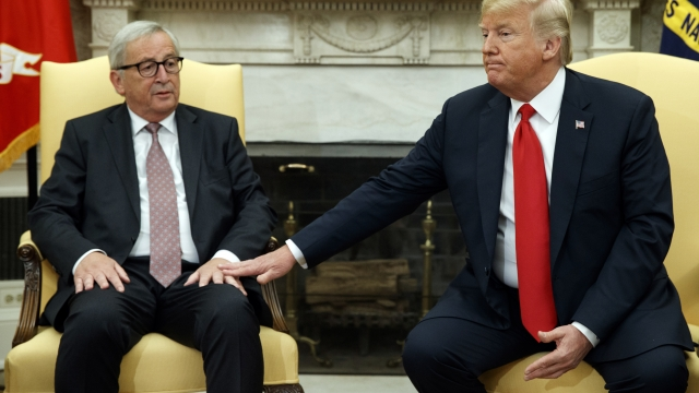 Trump, European Union leaders pull back from trade war