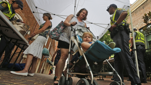 Heavy security as Charlottesville anniversary weekend opens