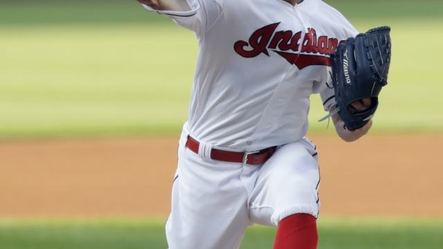 Kluber dominates Angels with three-hitter, Indians win 3-0